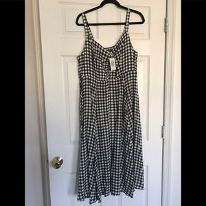 Torrid Checkered Midi Dress NWT